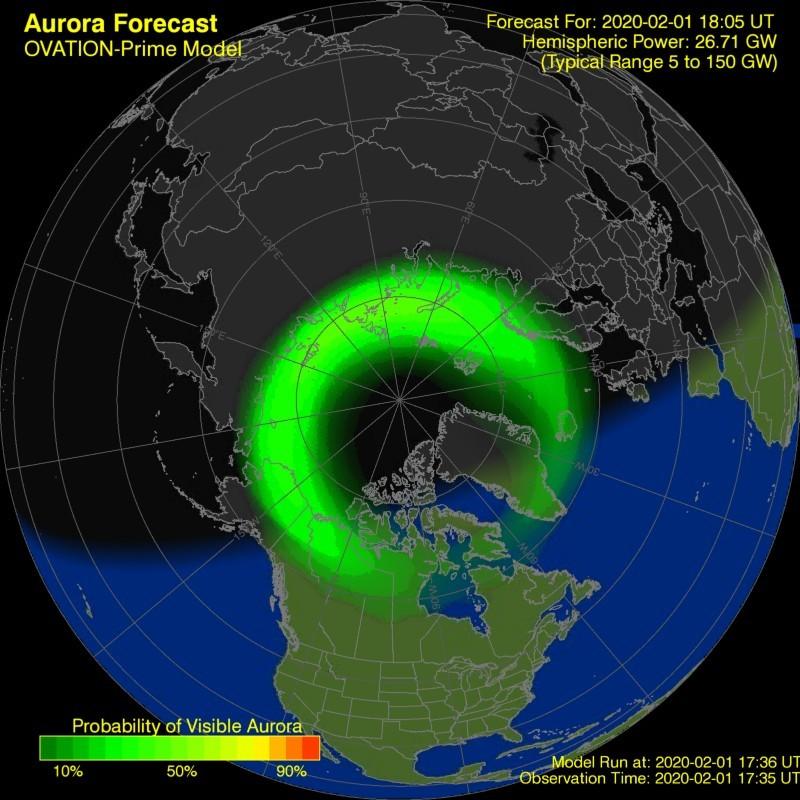 Noorderlicht voorspelling 30 minuten