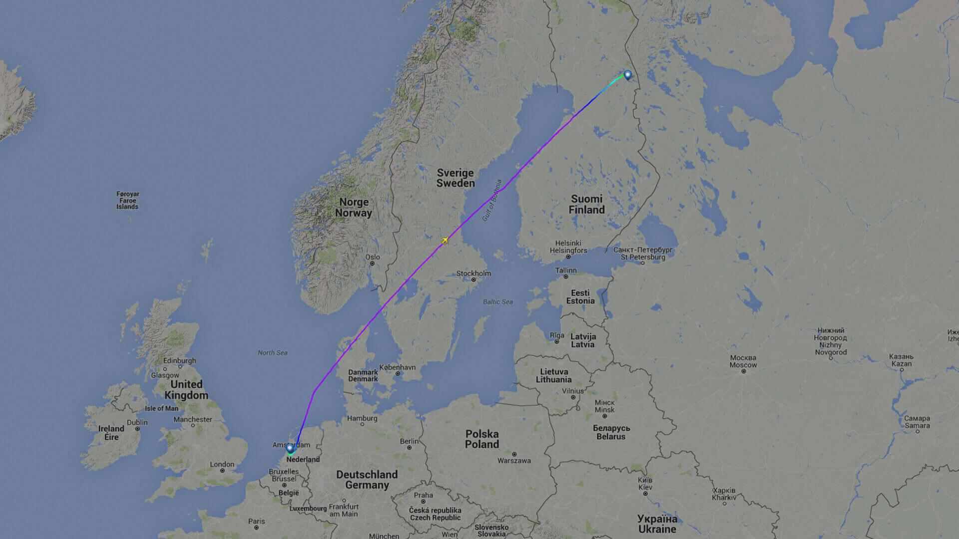 Vliegreis Lapland