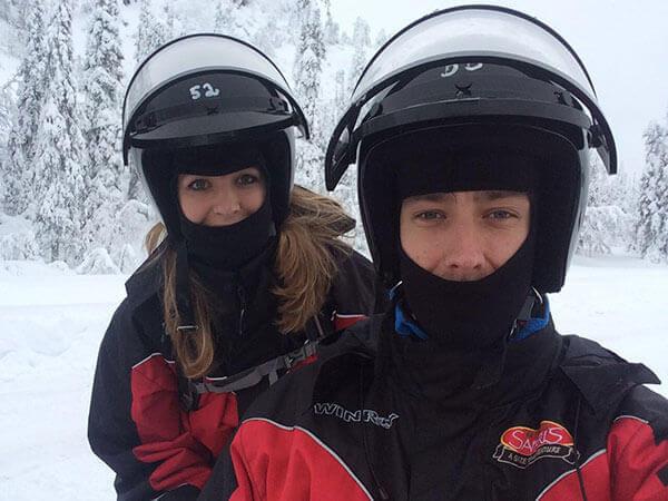 Sneeuwscooter selfie