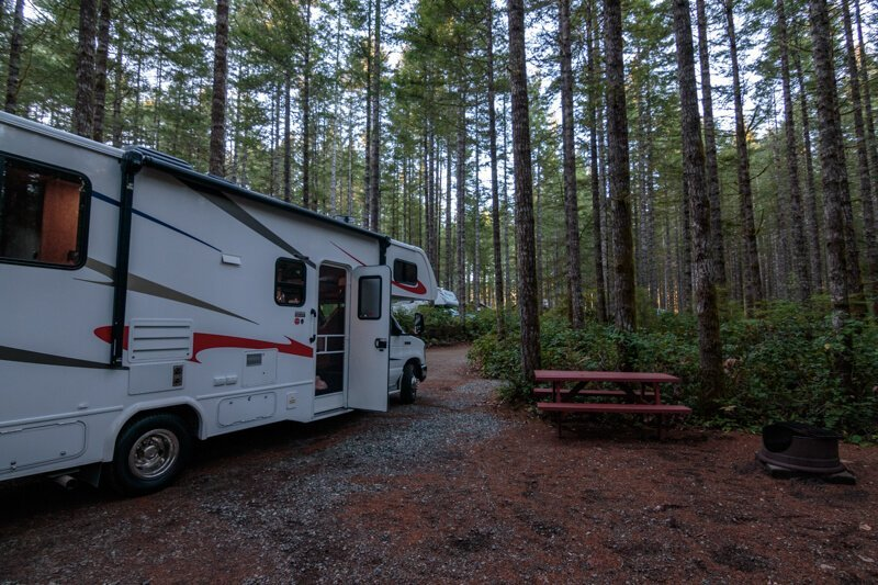 Parkside campground Campbell River