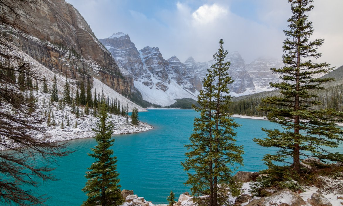 Moraine Lake en Lake Louise