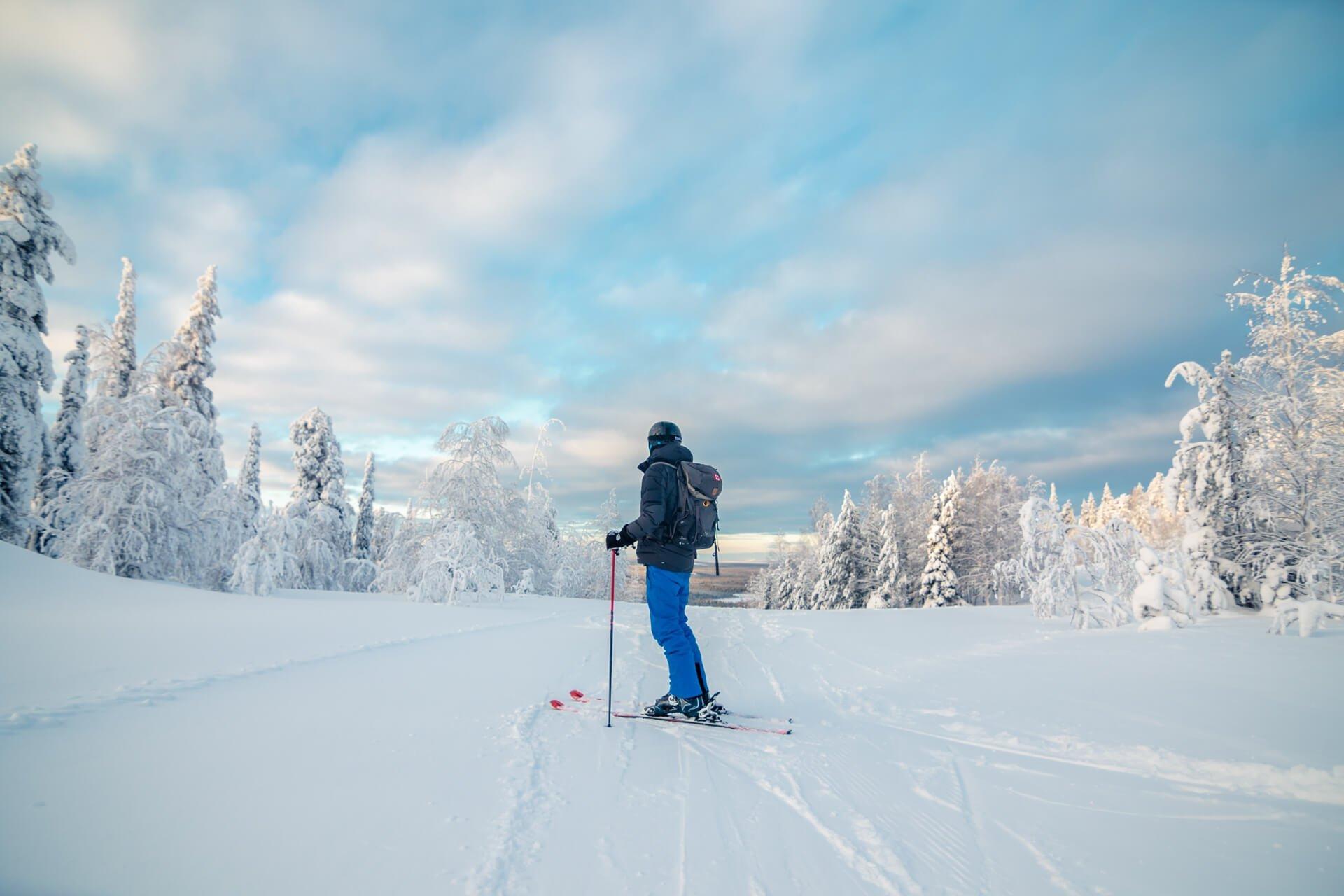 Skiën bij Salla in Fins Lapland
