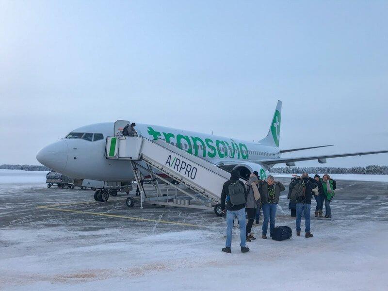 Aankomst Kuusamo