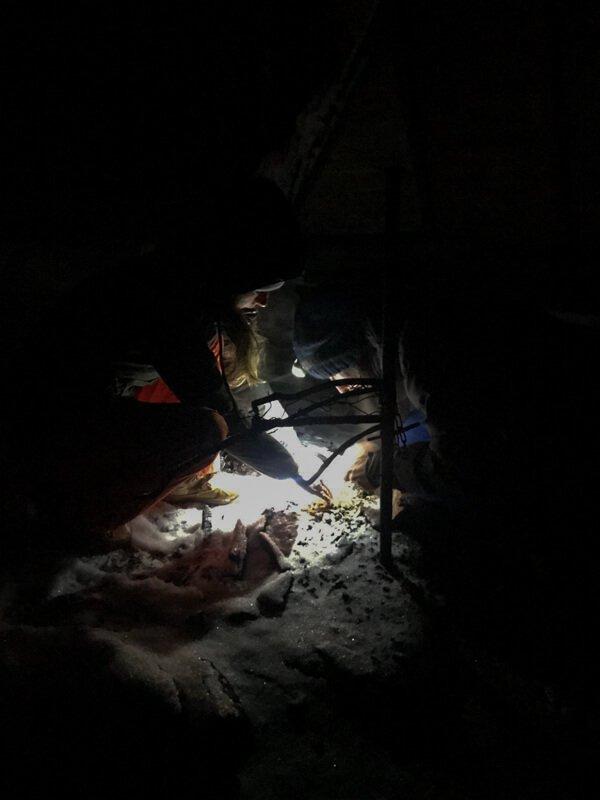 Vuur proberen te maken in Salla