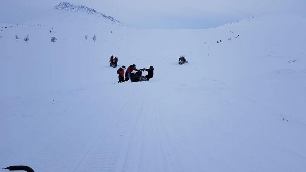 Sneeuwscooter ongeval