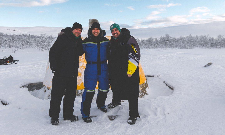 Sneeuwscooteren naar het drielandenpunt; Noorwegen, Zweden en Finland
