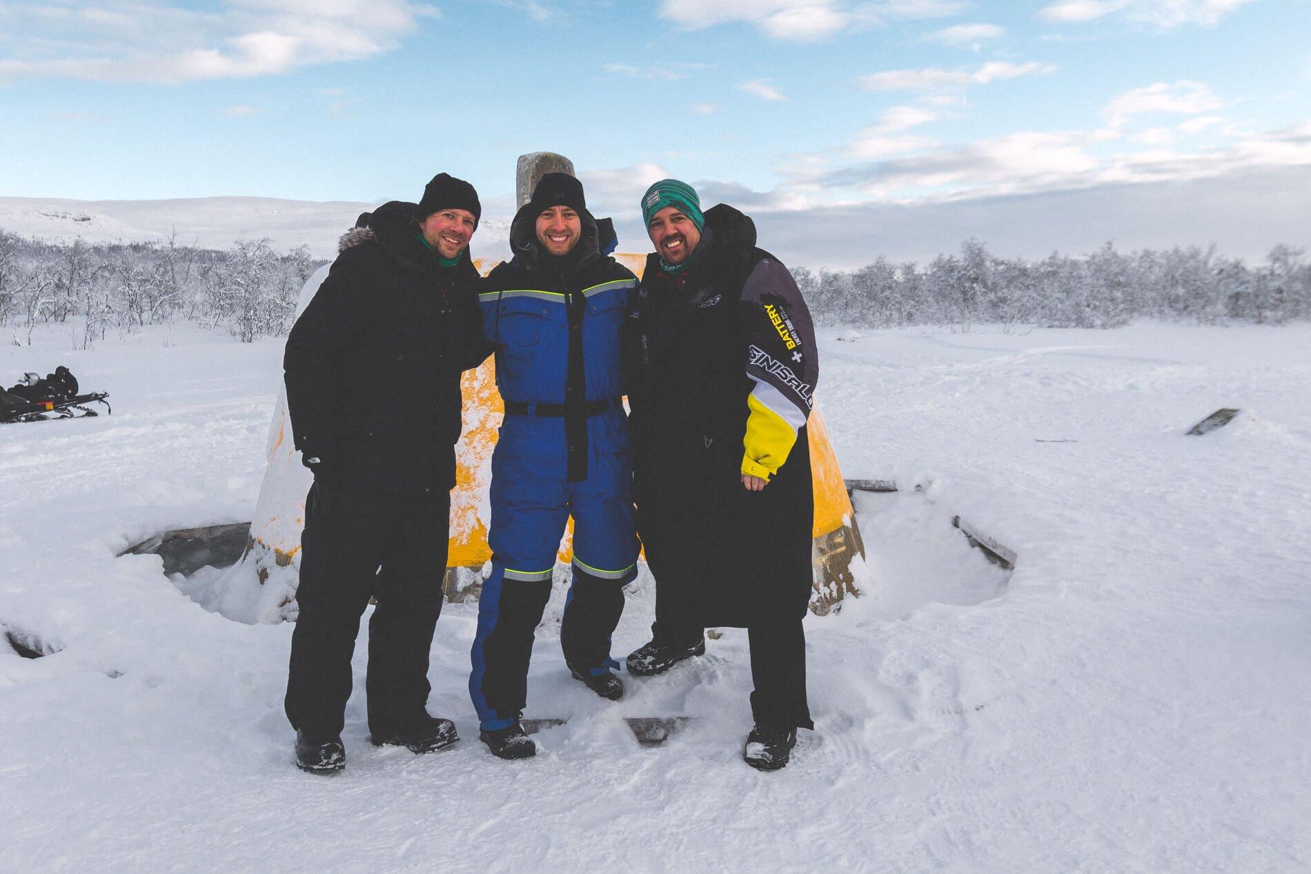 Sneeuwscooter drielandenpunt