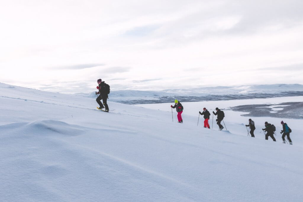 Sneeuwschoen wandeling Saana