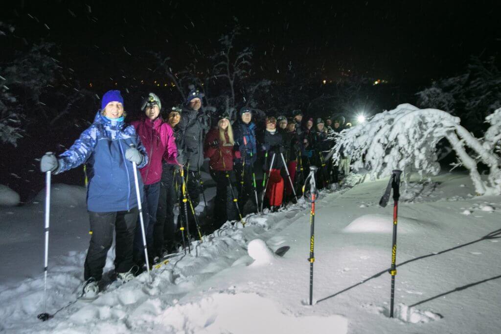Sneeuwschoen wandeling naar Tsahkaljärvi