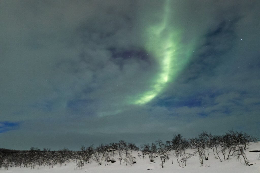Noorderlicht jagen Kilpisjärvi